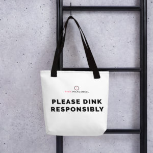 Pink Pickleball tote bag